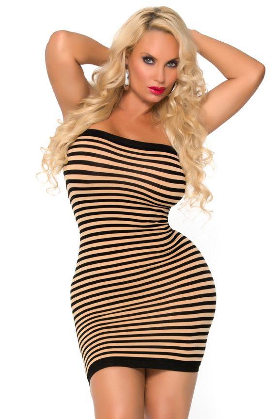 Платье-труба в полоску HOT COCO SEAMLESS TUBE DRESS