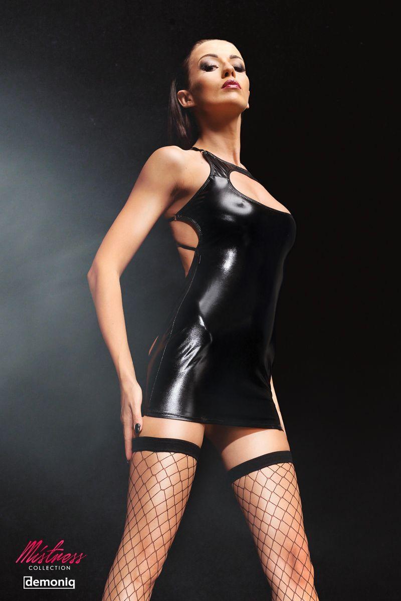 Откровенное платье Ursel Premium с полуоткрытой попкой и чулками - фото 249004