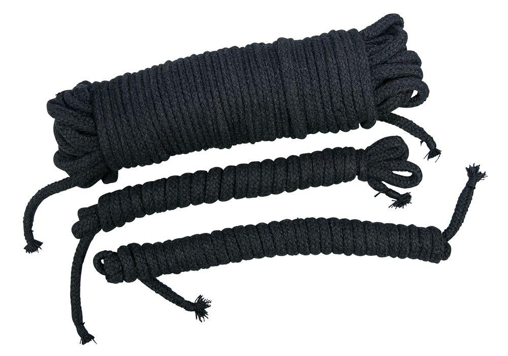 Чёрные хлопковые верёвки для бондажа - фото 1660088