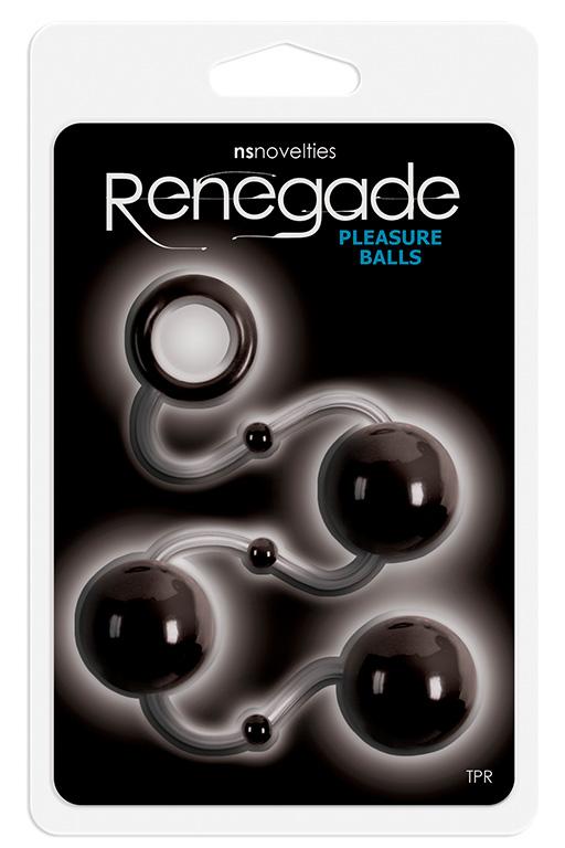 Чёрные анальные шарики Renegade Pleasure Balls