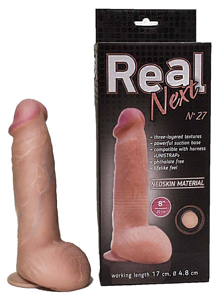 Реалистичный фаллоимитатор  на присоске REAL Next № 27 - 20 см. - фото 192102