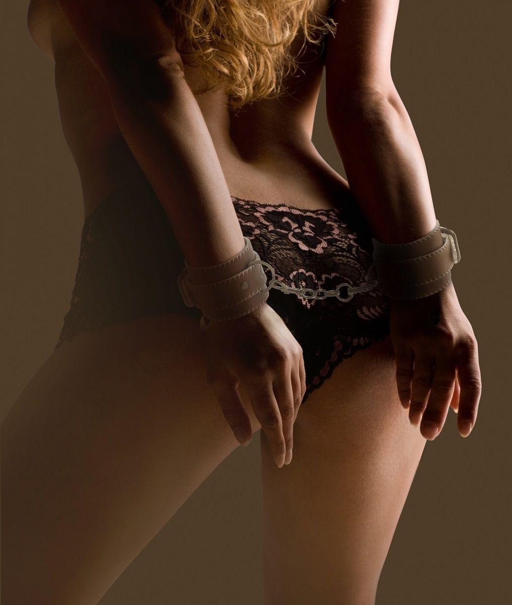 Кожаные наручники OUCH! Brown  - фото 146328