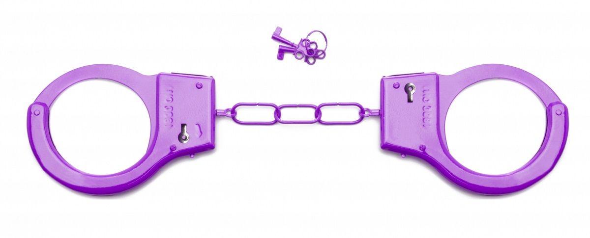 Фиолетовые металлические  наручники SHOTS TOYS Purple - фото 1281457