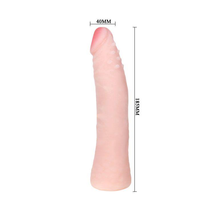 Реалистичный фаллоимитатор с шишечками под головкой - 18,5 см. - фото 146399