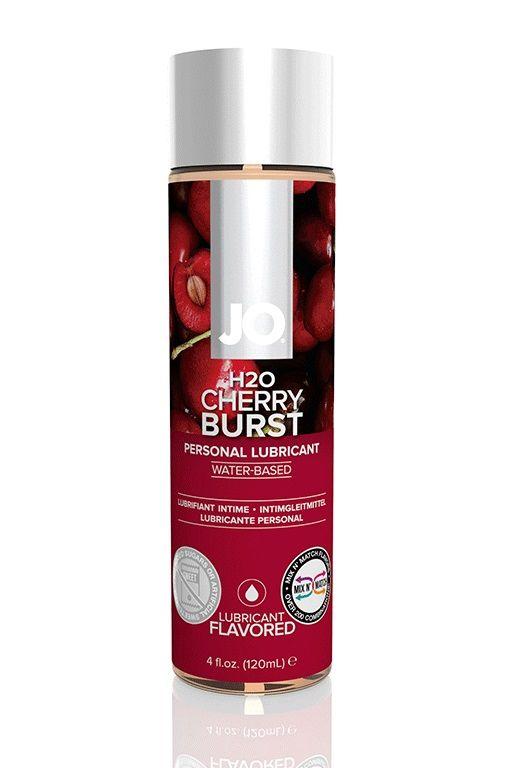 Лубрикант на водной основе с ароматом вишни JO Flavored Cherry Burst - 120 мл.