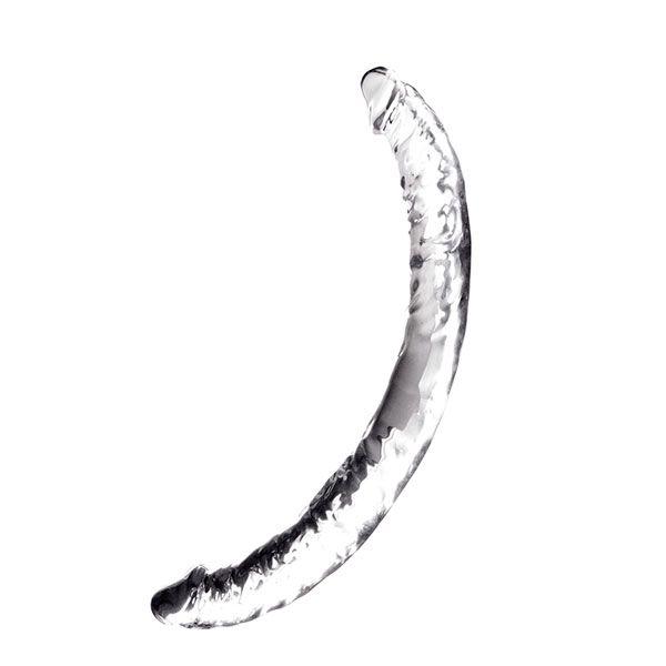 Прозрачный гелевый двусторонний фаллоимитатор JELLY JOY TWIN COBRA CLEAR DOUBLE DONG - 36 см. - фото 182757