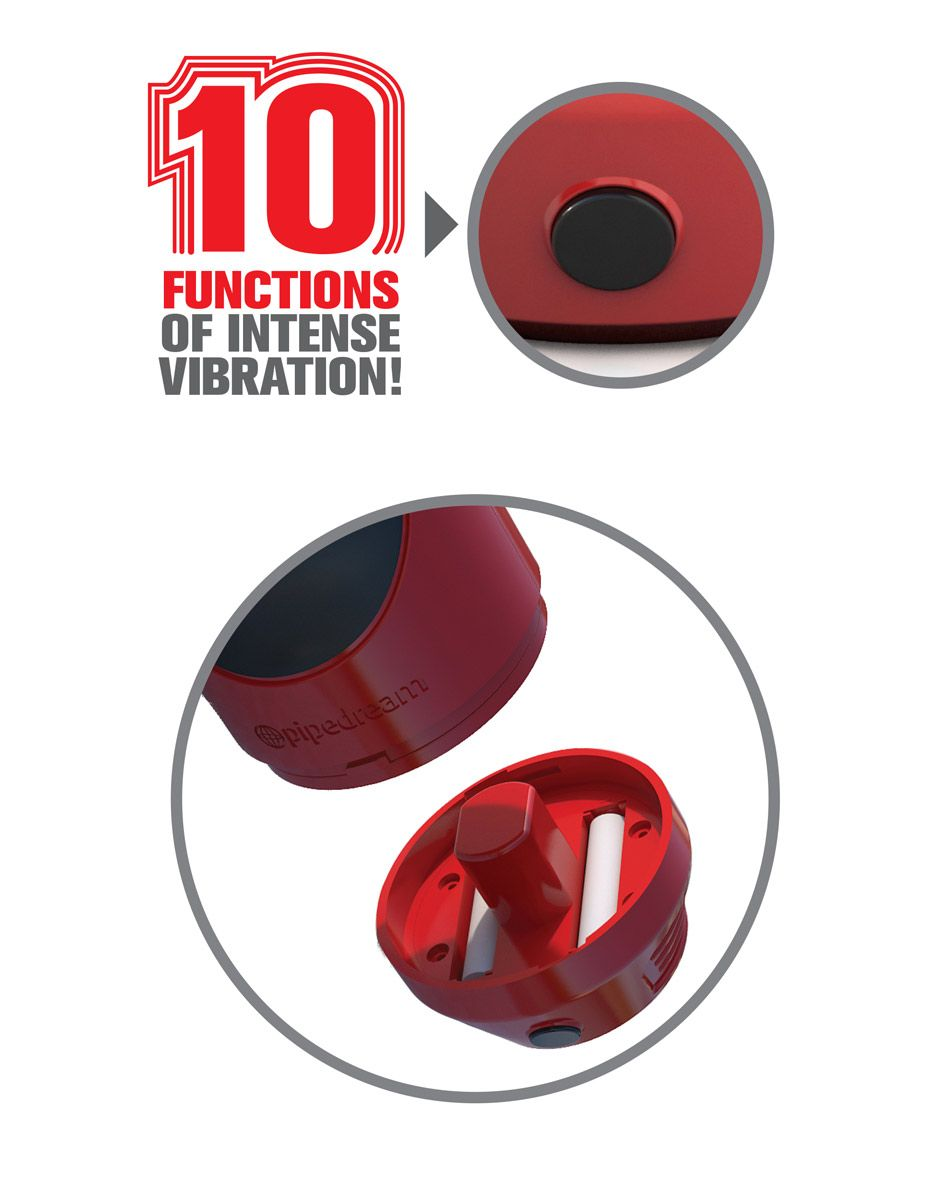 Мастурбатор-ротик с вибрацией Extreme Toyz Mega Grip Vibrating Stroker Mouth - фото 260511
