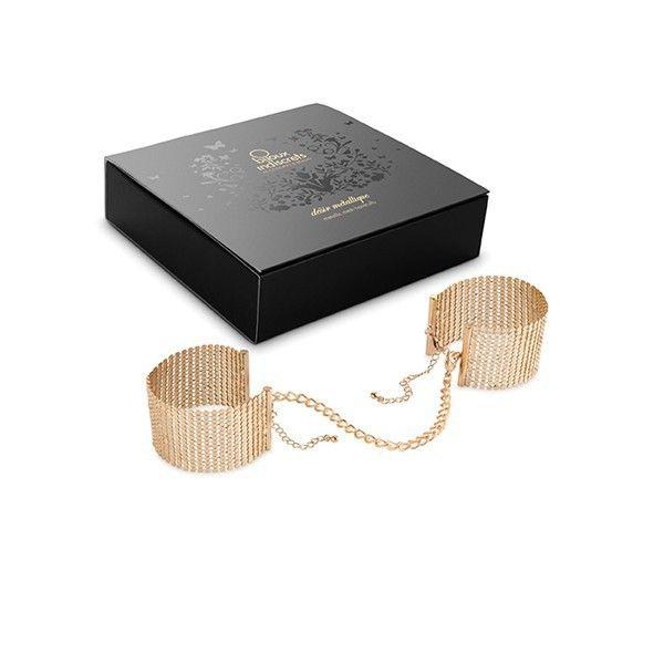 Дизайнерские золотистые наручники Desir Metallique Handcuffs Bijoux - фото 186506