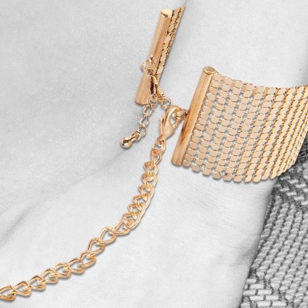 Дизайнерские золотистые наручники Desir Metallique Handcuffs Bijoux - фото 186508