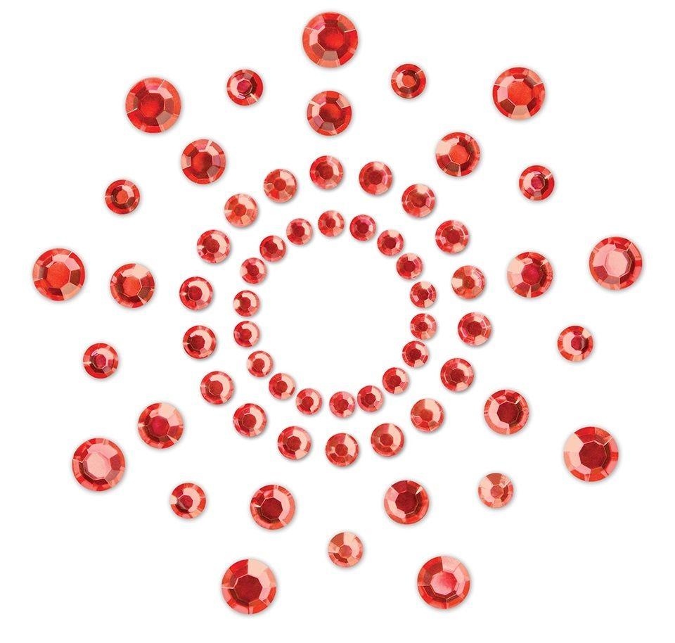 Красные наклейки на грудь Mimi Bijoux - фото 147434