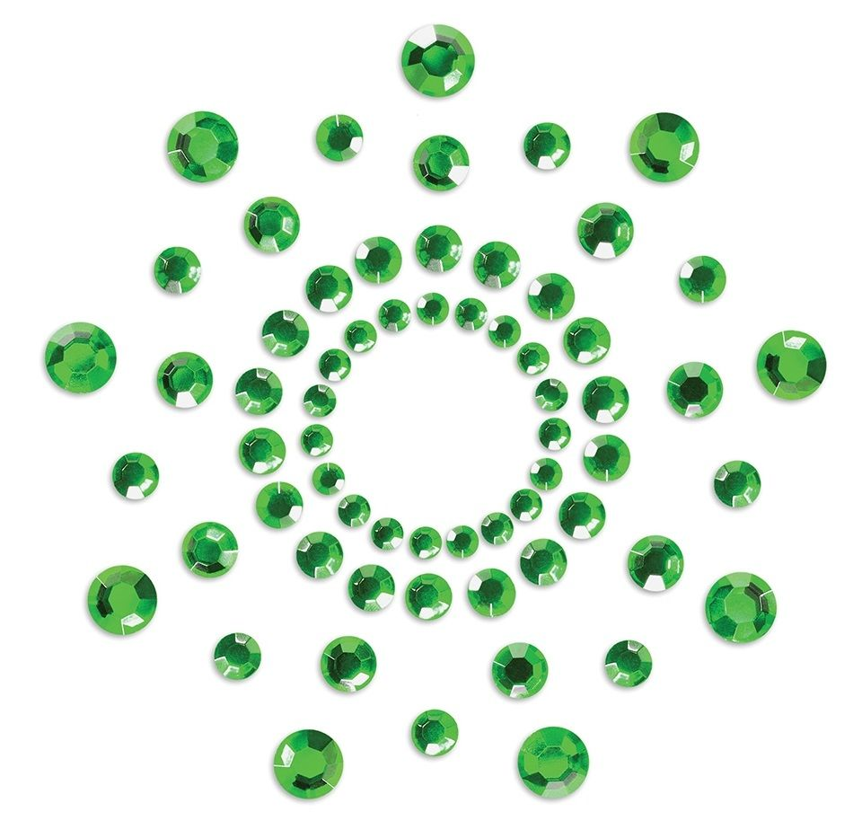 Зеленые наклейки на грудь Mimi Bijoux