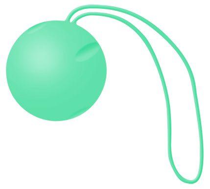 Зеленый вагинальный шарик Joyballs Trend Single