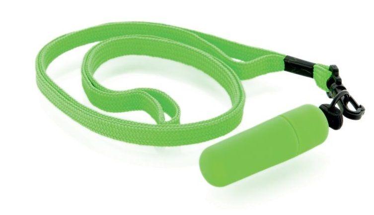 Набор из 10 зелёных вибропулек Funny Five на шнурке - фото 147889