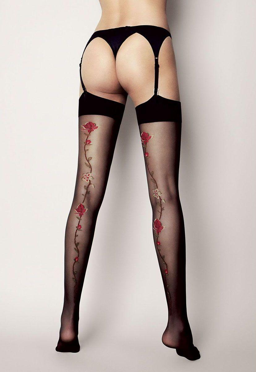 Чулочки с рисунком розы Calze Madlen  - фото 147745