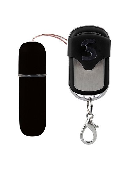 Черная вибропуля  Remote Vibrating Bullet с пультом ДУ