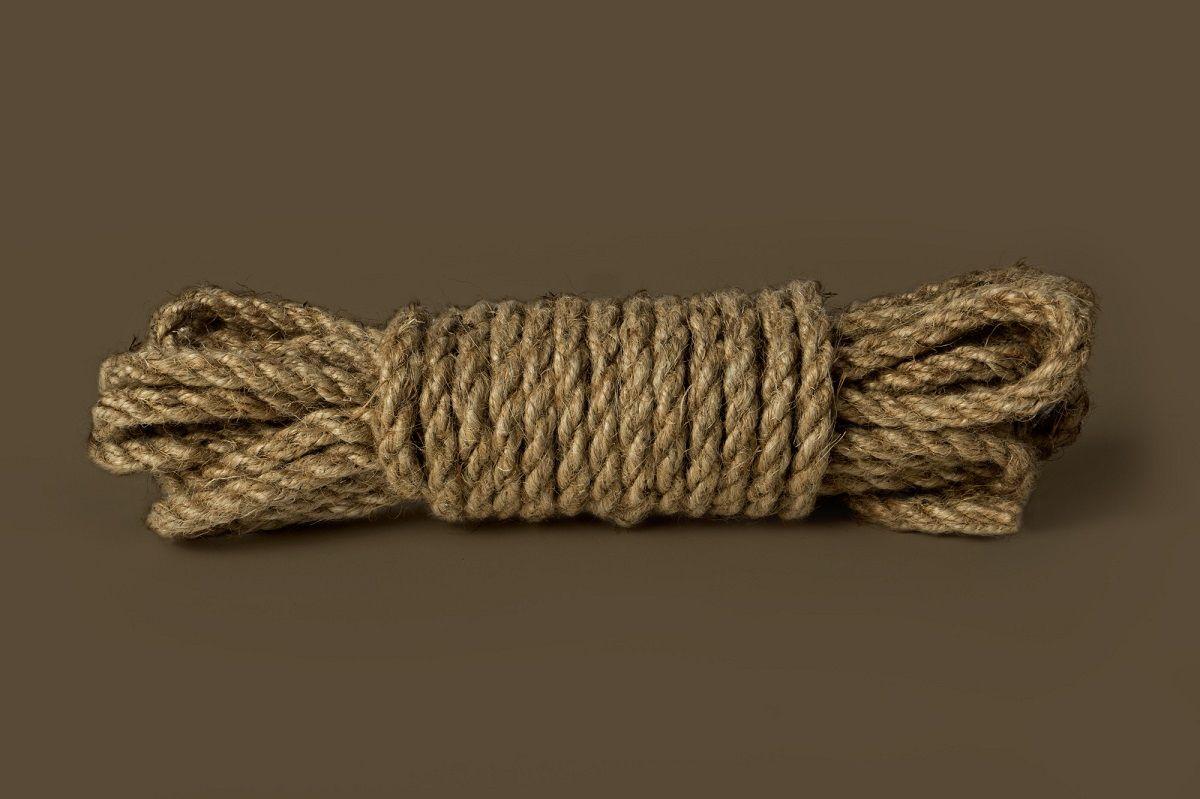 Пеньковая верёвка для бондажа Shibari Rope - 10 м.