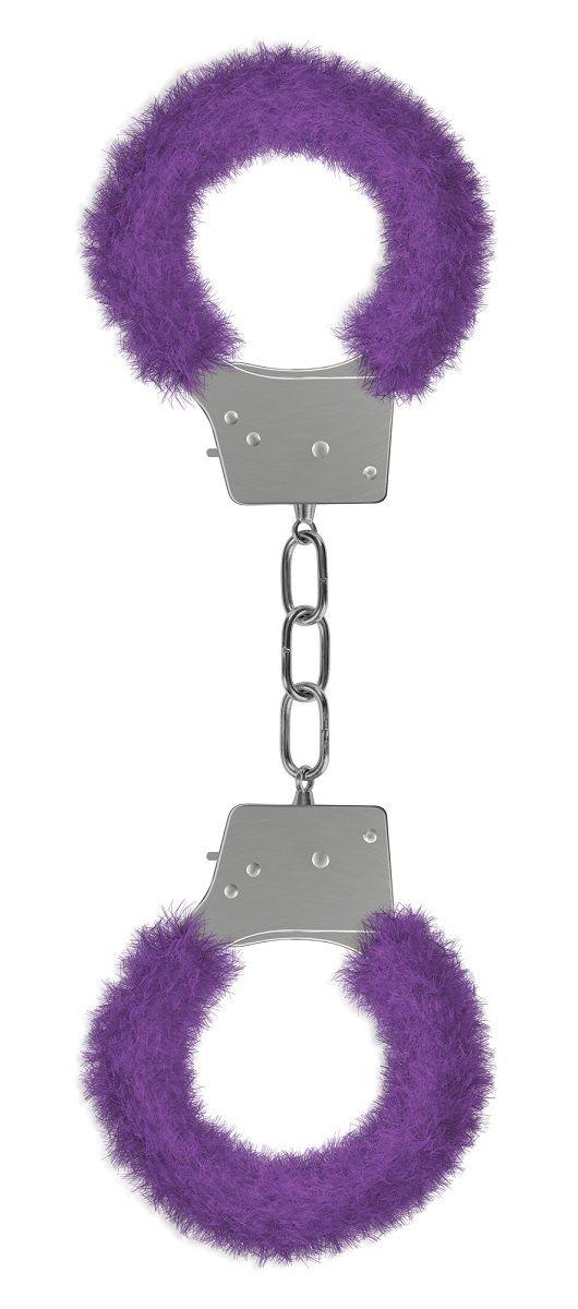 Пушистые фиолетовые наручники OUCH! Purple