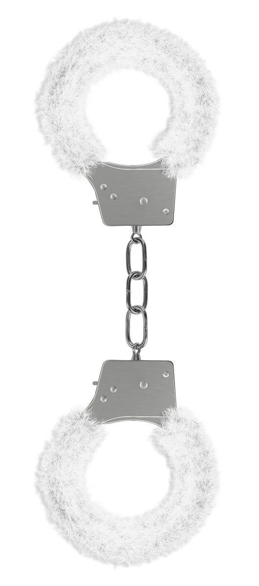 Пушистые белые наручники OUCH! White