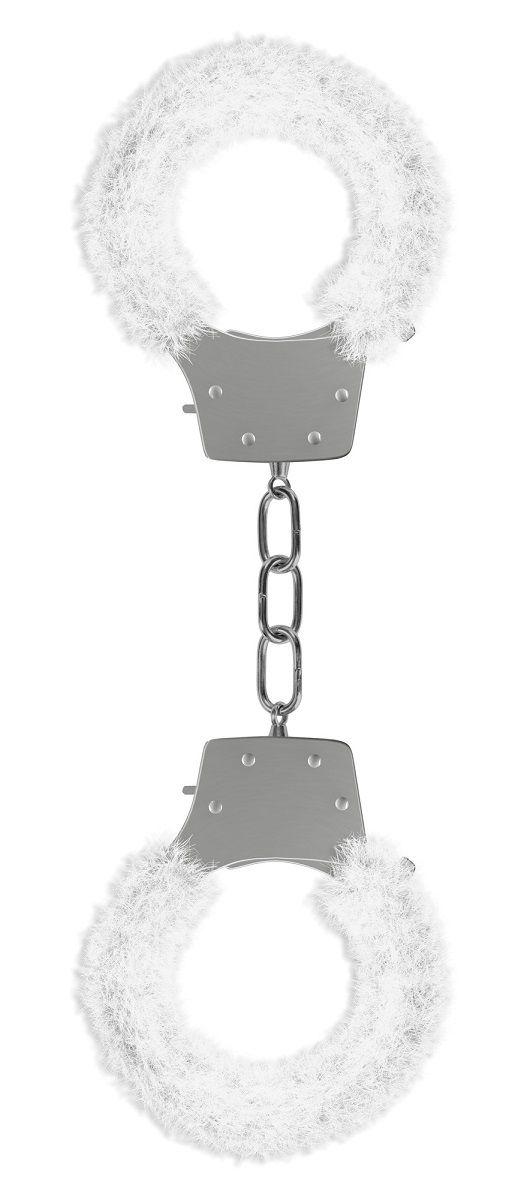 Белые пушистые наручники OUCH! White