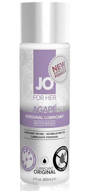 Лубрикант на водной основе для женщин JO AGAPE LUBRICANT ORIGINAL - 60 мл. - фото 148028