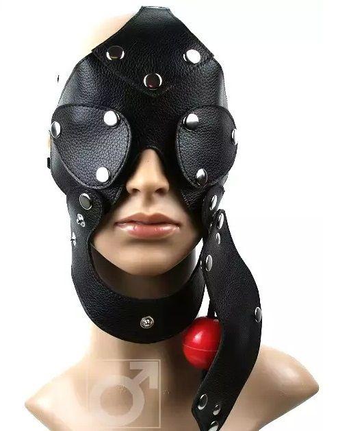 Разъёмная шлем-маска с кляпом