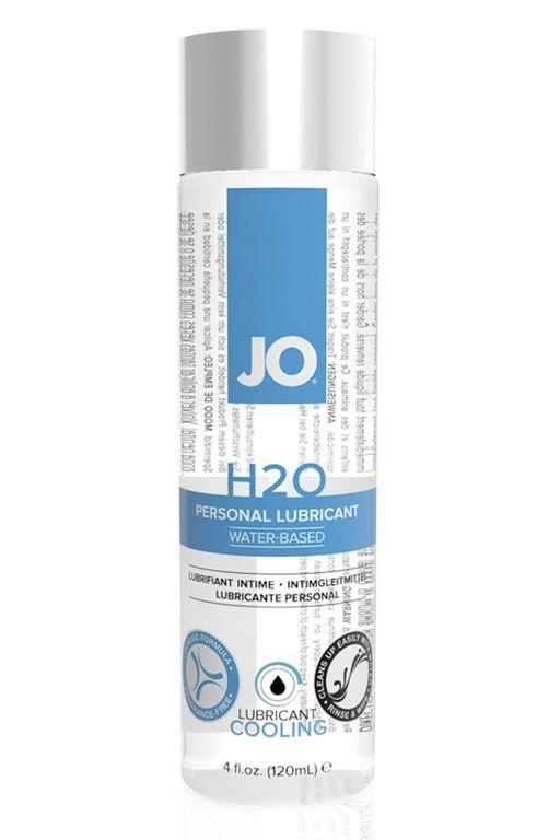 Охлаждающий лубрикант на водной основе JO Personal Lubricant H2O COOLING - 120 мл. - фото 1159508