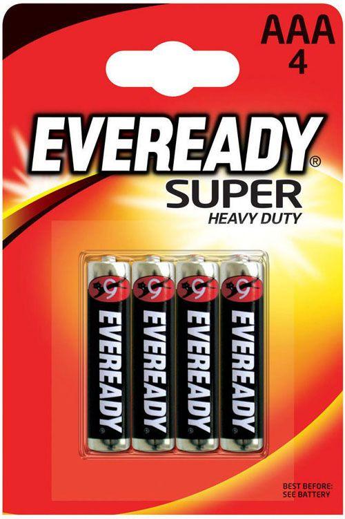 Батарейки EVEREADY SUPER R03 типа AAA - 4 шт. - фото 1662318