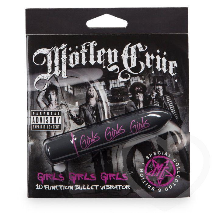 Чёрная вибропуля Motley Crue Girls