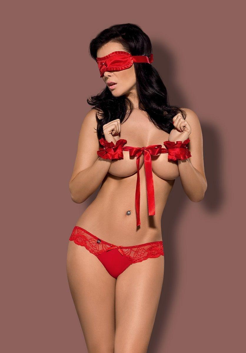 Алый костюм сексуальной рабыни Secred