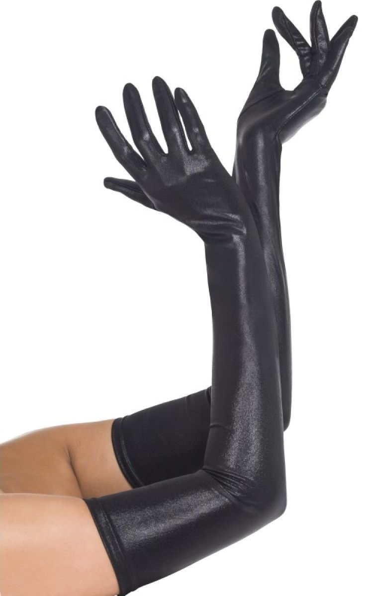 Перчатки с эффектом мокрой ткани - фото 1662698