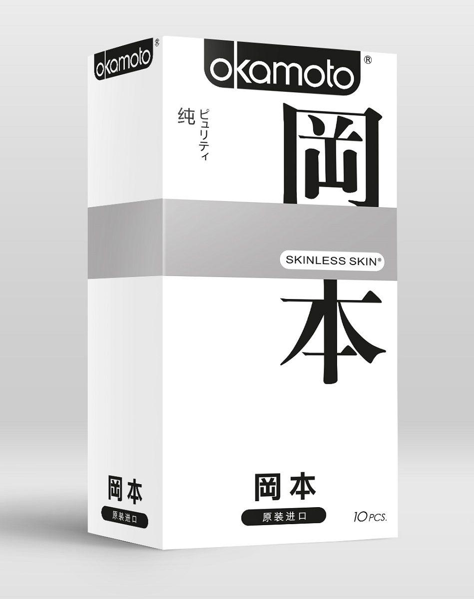 Презервативы OKAMOTO Skinless Skin Purity - 10 шт.