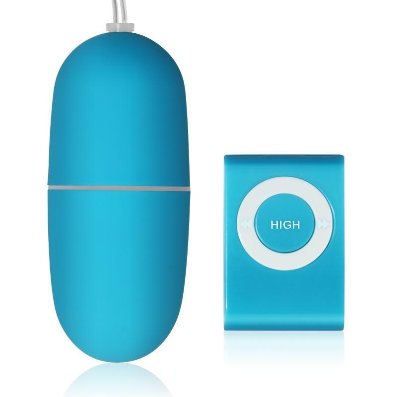 Голубое виброяйцо с дистанционном пультом управления IEgg