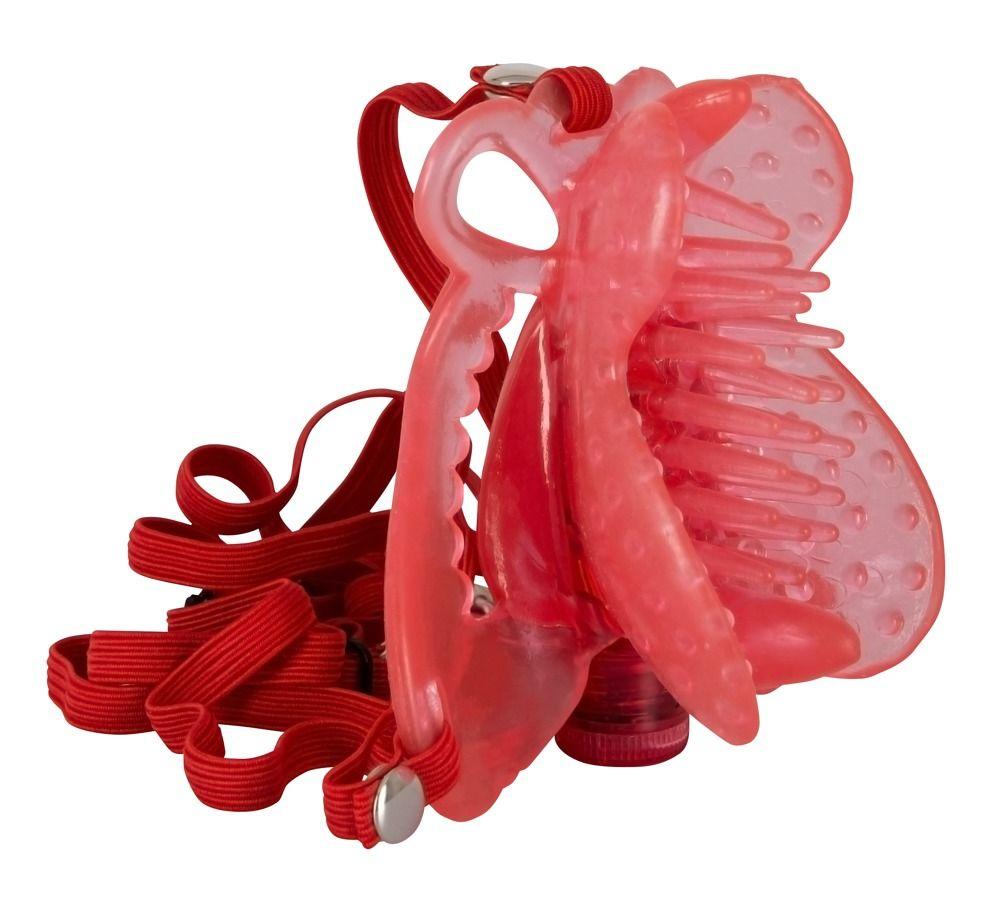 Розовая вибробабочка на регулируемых ремешках