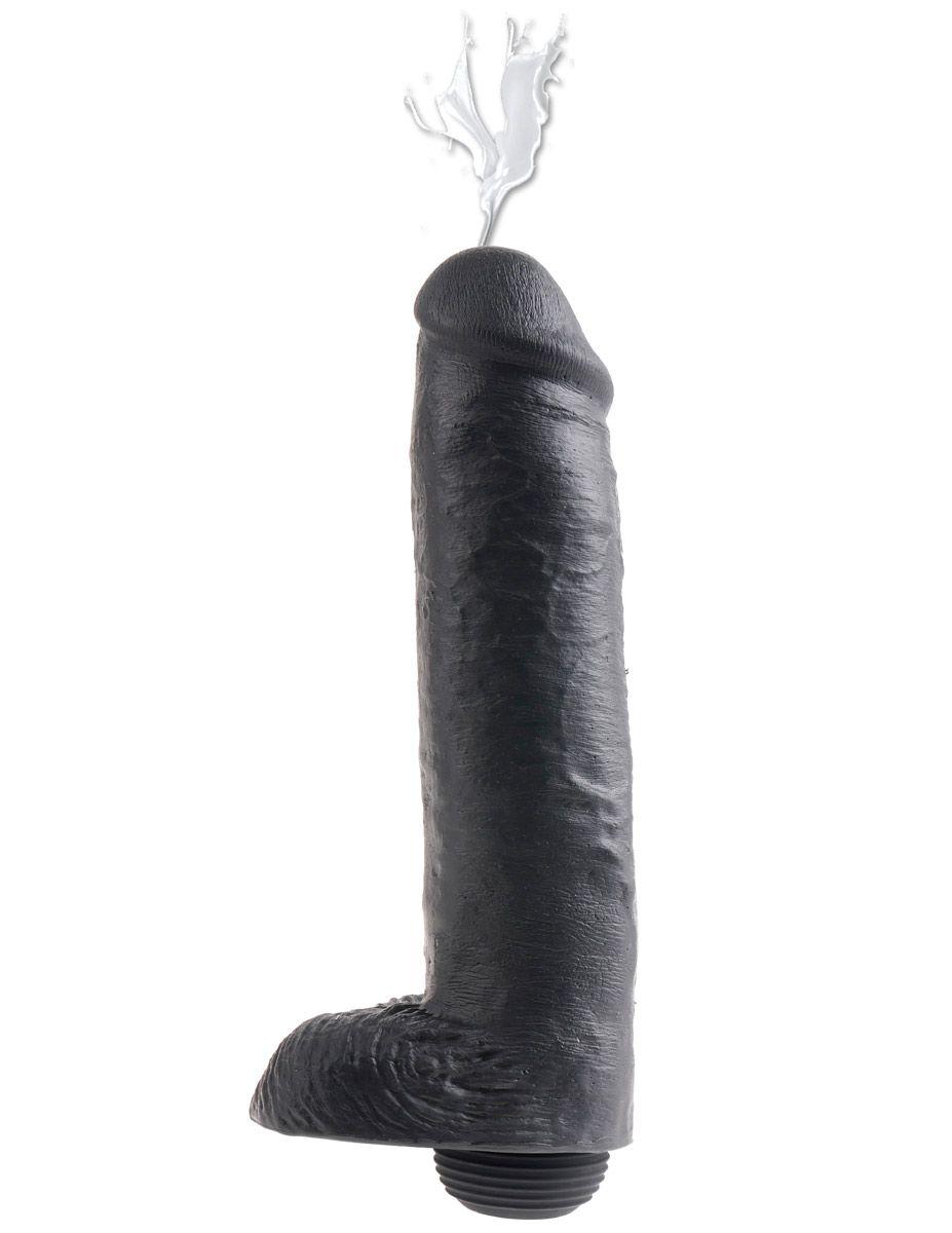 Фаллоимитатор-реалистик с имитацией семяизвержения 11  Squirting Cock with Balls - 27,9 см. - фото 248906