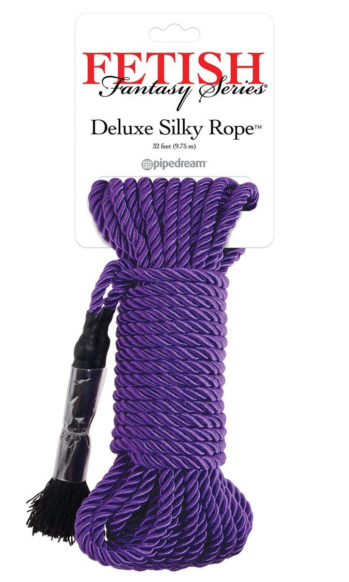 Фиолетовая веревка для фиксации Deluxe Silky Rope - 9,75 м.