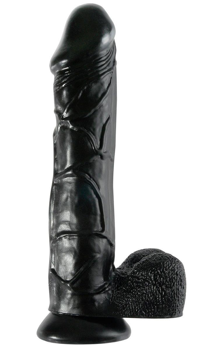 Чёрный фаллоимитатор-гигант 12  Mega Dildo -32,4 см. - фото 199548