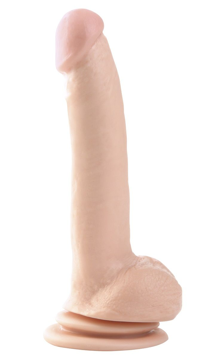 Телесный фаллоимитатор 9  Suction Cup Dong - 22,9 см. - фото 248980