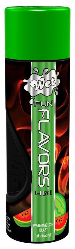 Разогревающий лубрикант Fun Flavors 4-in-1 Watermelon Blast с ароматом арбуза - 316 мл. - фото 149583