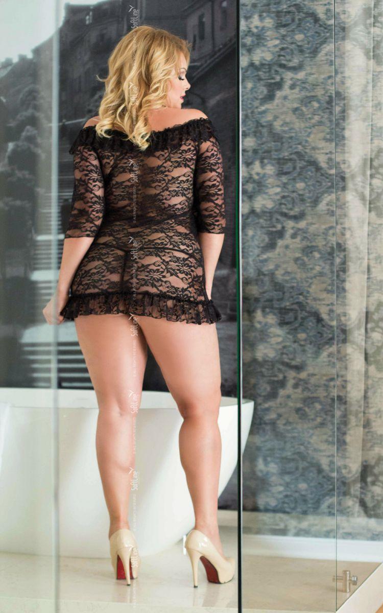 Кружевная сорочка Cloe с трусиками-стринг в комплекте - фото 149590