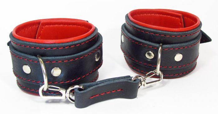 Оковы на ноги с красным подкладом - фото 314338