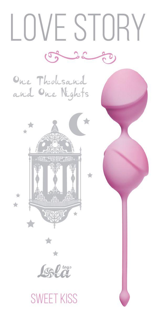 Розовые вагинальные шарики One Thousand and One Nights