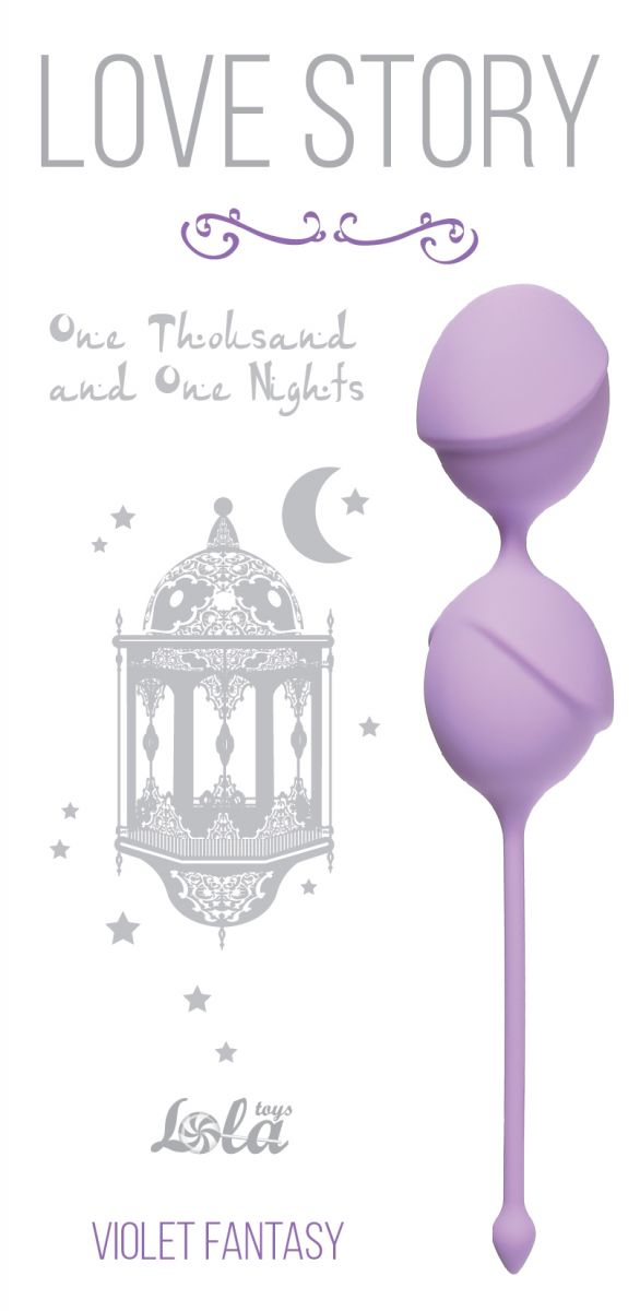 Сиреневые вагинальные шарики One Thousand and One Nights - фото 149897