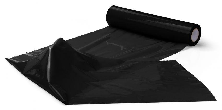 Чёрная широкая лента для тела Body Bondage Tape - 20 м.