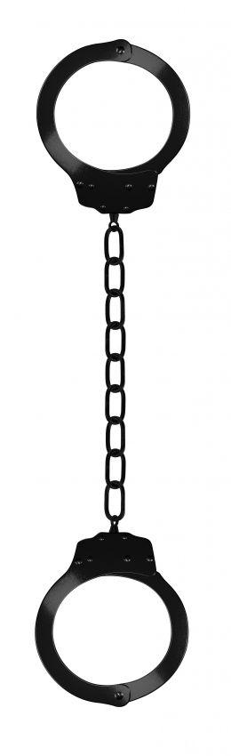Чёрные металлические кандалы Metal Ankle Cuffs