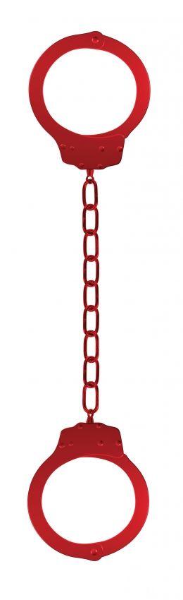 Красные металлические кандалы Metal Ankle Cuffs - фото 150332