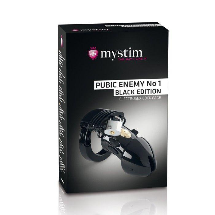 Пояс верности с электростимуляцией Mystim Pubic Enemy No1 Black Edition - фото 150930