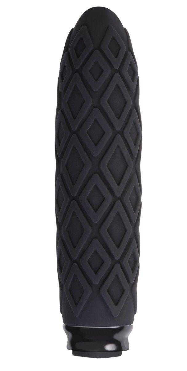 Чёрный фактурный мини-вибратор Luxe Compact Vibe Princess - 10,8 см.