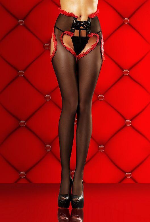 Оригинальные колготы Lust stockings с вырезом, похожим на сердце - фото 123785