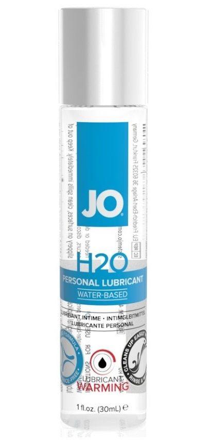 Возбуждающий лубрикант на водной основе JO Personal Lubricant H2O Warming - 30 мл.