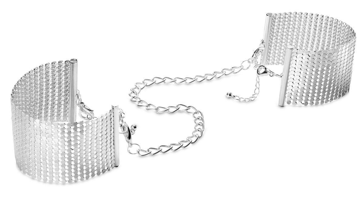 Серебристые наручники-браслеты Desir Metallique Handcuffs - фото 1665186